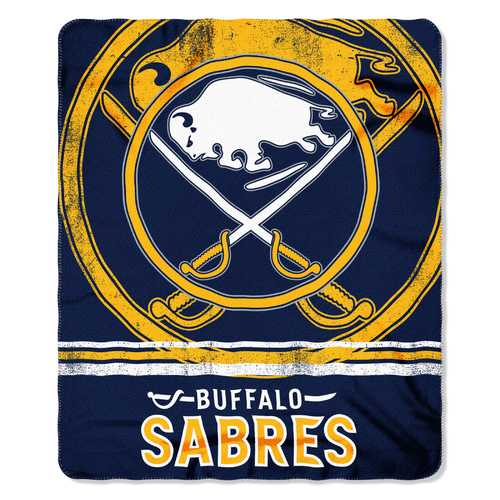 Buffalo Sabres Blanket 50x60 Fleece Fade Away Design Special Order
