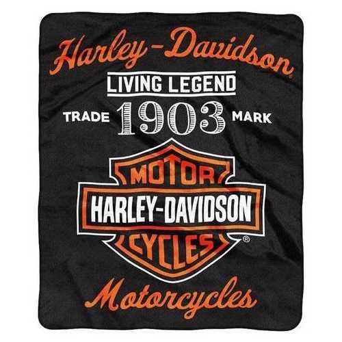 Harley-Davidson Blanket 50x60 Raschel Legend Design