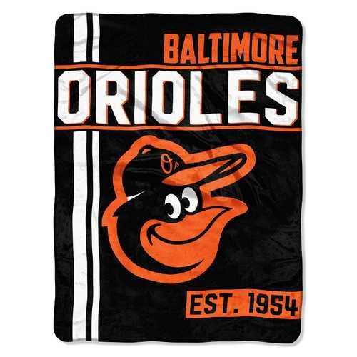 Baltimore Orioles Blanket 46x60 Micro Raschel Walk Off Design Rolled Special Order