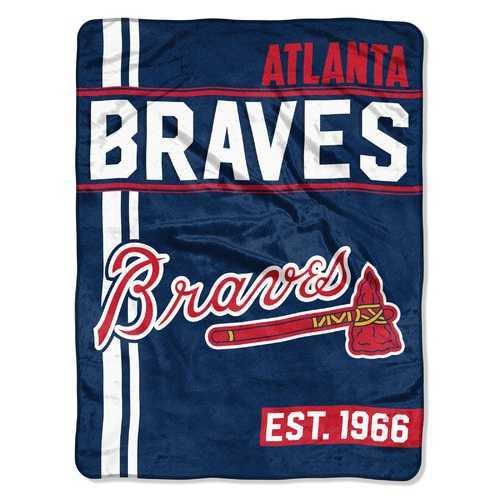 Atlanta Braves Blanket 46x60 Micro Raschel Walk Off Design Rolled Special Order