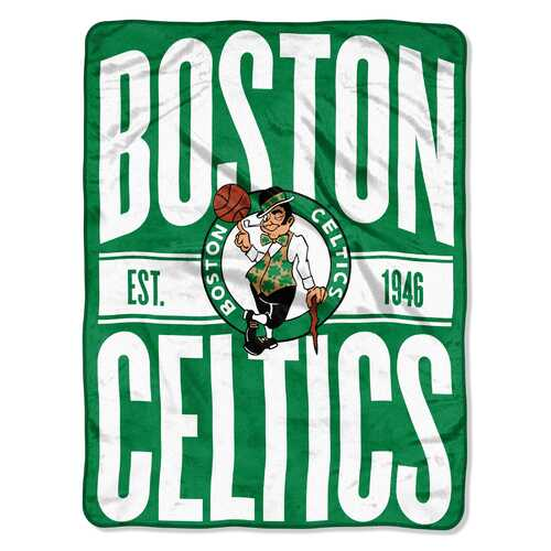 Boston Celtics Blanket 46x60 Micro Raschel Clear Out Design Rolled Special Order