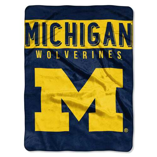 Michigan Wolverines Blanket 60x80 Raschel Basic Design
