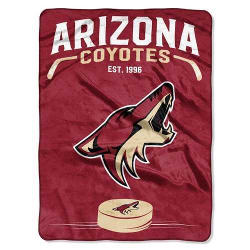 Arizona Coyotes Blanket 60x80 Raschel Inspired Design Special Order
