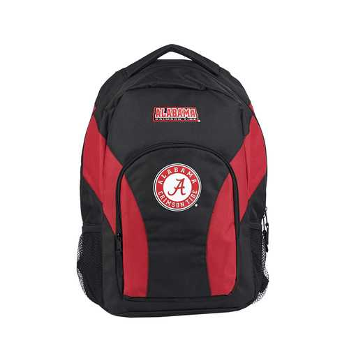 Alabama Crimson Tide Backpack Draftday Style Black and Red