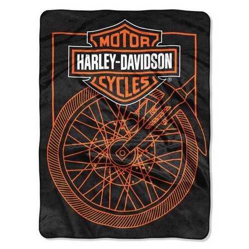 Harley-Davidson Blanket 60x80 Raschel Salvage Design