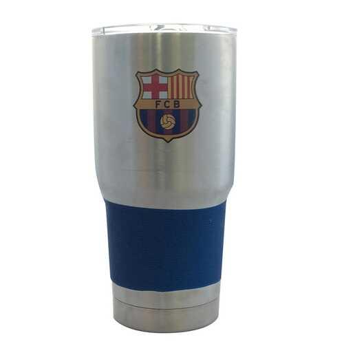 Barcelona Football Club Travel Tumbler 30oz Ultra Silver