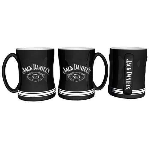 Jack Daniels Coffee Mug 14oz Sculpted Relief