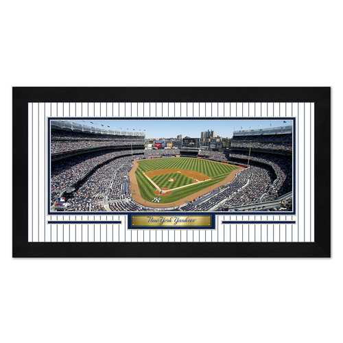New York Yankees Print 13x7 Framed Yankee Stadium Design