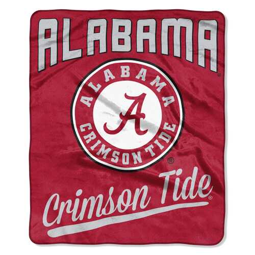 Alabama Crimson Tide Blanket 50x60 Raschel Alumni Design