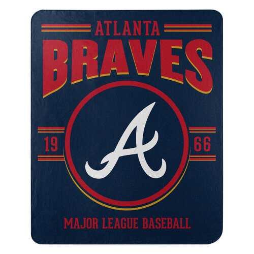 Atlanta Braves Blanket 50x60 Fleece Southpaw Design