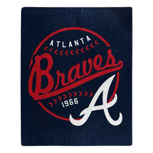 Atlanta Braves Blanket 50x60 Raschel Moonshot Design