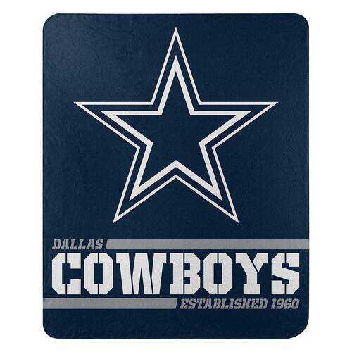 Dallas Cowboys Blanket 50x60 Fleece Split Wide Design