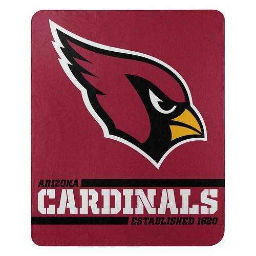 Arizona Cardinals Blanket 50x60 Fleece Split Wide Design