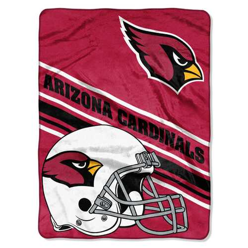 Arizona Cardinals Blanket 60x80 Raschel Slant Design