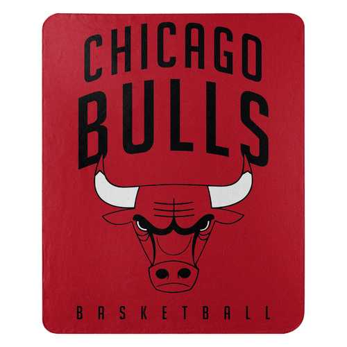 Chicago Bulls Blanket 50x60 Fleece Layup Design