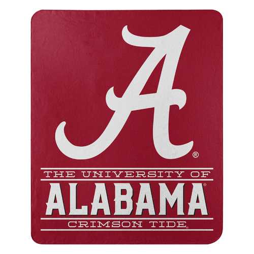 Alabama Crimson Tide Blanket 50x60 Fleece Control Design