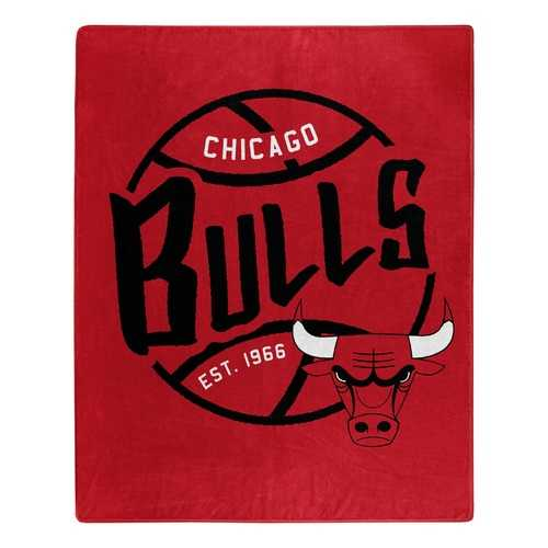 Chicago Bulls Blanket 50x60 Raschel Blacktop Design