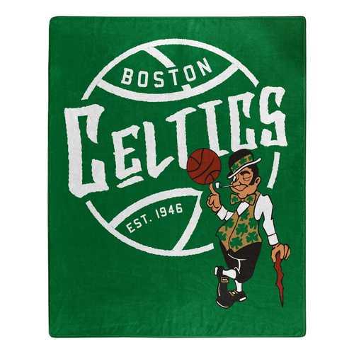 Boston Celtics Blanket 50x60 Raschel Blacktop Design