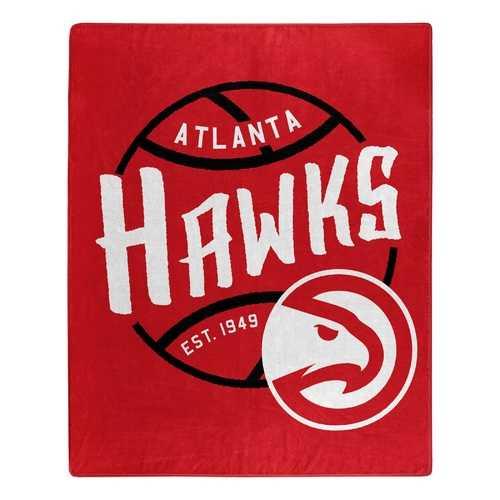 Atlanta Hawks Blanket 50x60 Raschel Blacktop Design Special Order