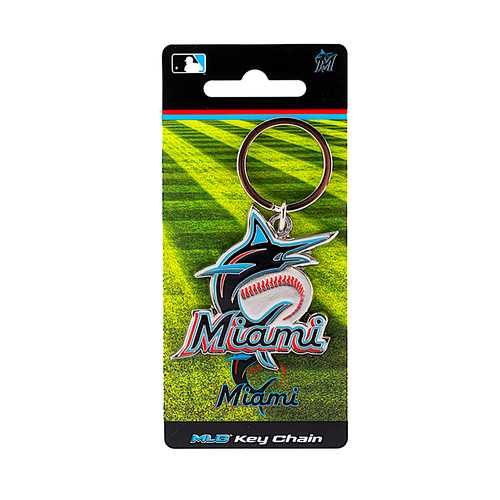 Miami Marlins Keychain Team