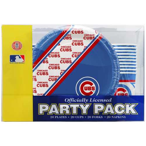 Chicago Cubs Party Pack 80 Piece