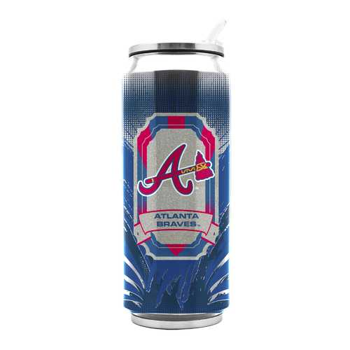 Atlanta Braves Stainless Steel Thermo Can - 16.9 ounces Special Order