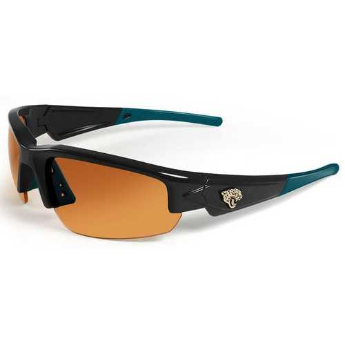Jacksonville Jaguars Sunglasses - Dynasty 2.0 Black with Teal Tips