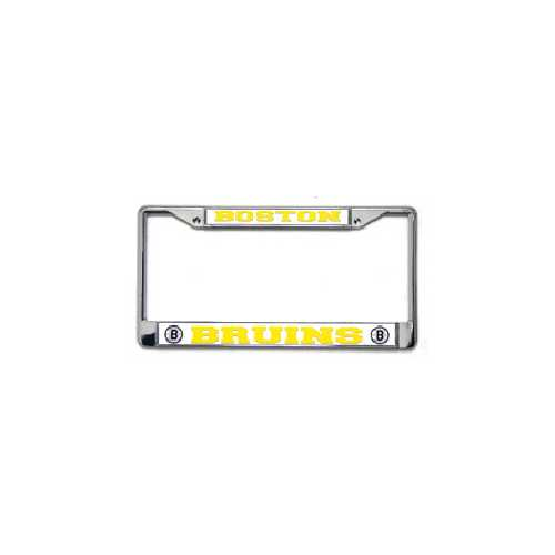 Boston Bruins License Plate Frame Chrome Special Order