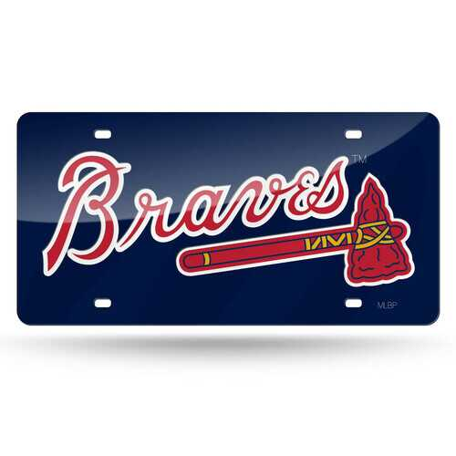 Atlanta Braves License Plate Laser Cut Navy