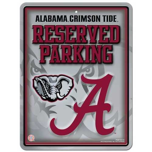 Alabama Crimson Tide Sign Metal Parking