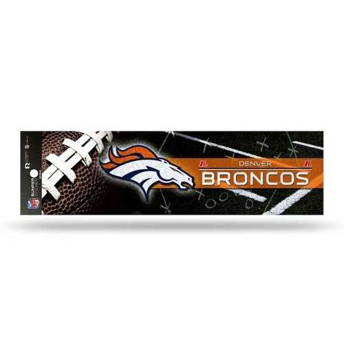 Denver Broncos Decal Bumper Sticker Glitter