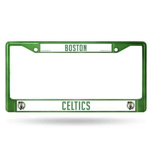 Boston Celtics License Plate Frame Metal Green Special Order