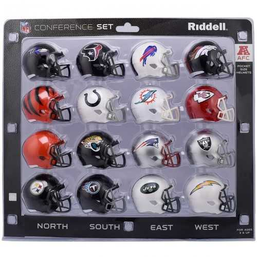 AFC Conference Set Riddell Pocket Pro Speed Style 2018