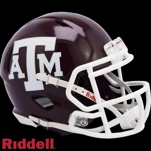 Texas A&M Aggies Helmet Riddell Replica Mini Speed Style Maroon