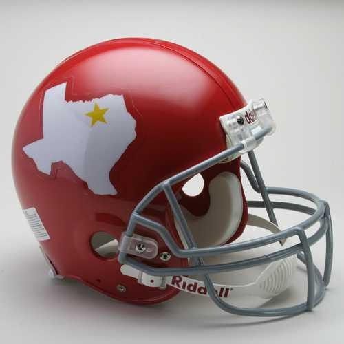 Dallas Texans Helmet Riddell Authentic Full Size VSR4 Style 1960-1962 Throwback