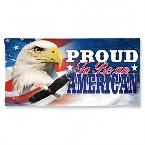 America Towel 30x60 Beach Style Proud To Be an American Design Special Order