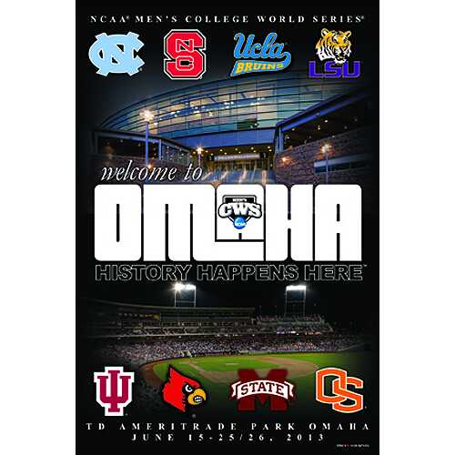 2013 College World Series Poster - Welcome to Omaha