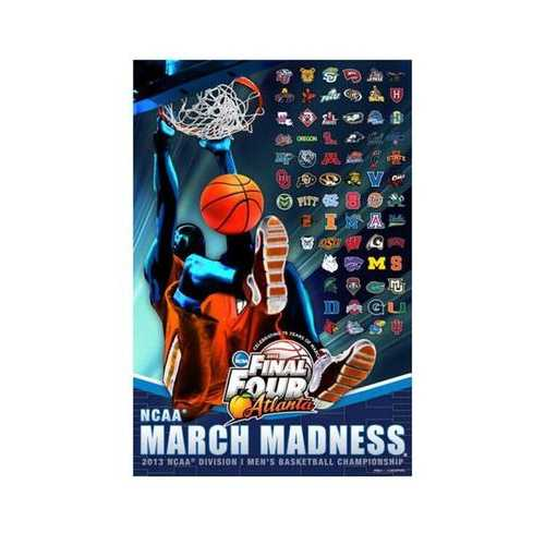 NCAA March Madness Poster - 2013 Field of 68 Teams