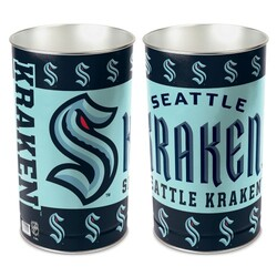 Seattle Kraken Wastebasket 15 Inch
