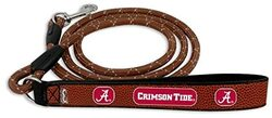 Alabama Crimson Tide Pet Leash Leather Frozen Rope Baseball Size Medium