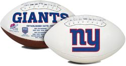 New York Giants Football Full Size Embroidered Signature Series