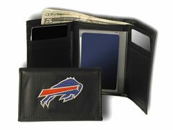 Buffalo Bills Wallet Trifold Leather Embroidered