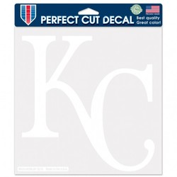 Kansas City Royals Decal 8x8 Die Cut White