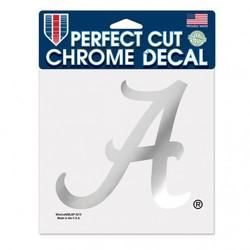 Alabama Crimson Tide Decal 6x6 Perfect Cut Chrome