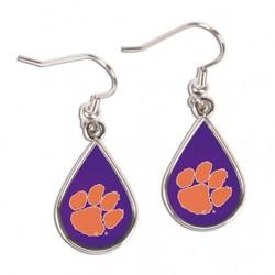 Clemson Tigers Earrings Tear Drop Style Special Order