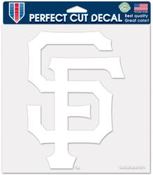 San Francisco Giants Decal 8x8 Die Cut White