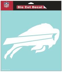 Buffalo Bills Decal 8x8 Die Cut White