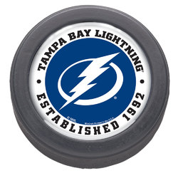 Tampa Bay Lightning Hockey Puck Packaged Est 1992 Design