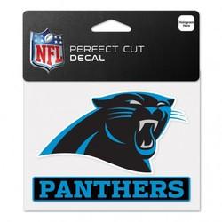 Carolina Panthers Decal 4.5x5.75 Perfect Cut Color