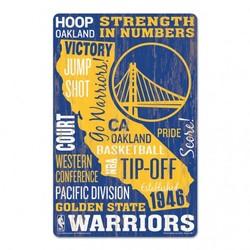 Golden State Warriors Sign 11x17 Wood Established Design